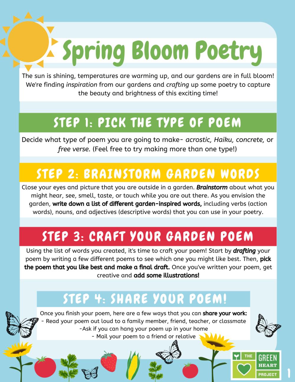 Spring Bloom Poetry